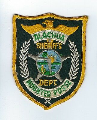 Alachua County FL Florida Sheriff's Dept. MOUNTED POSSE patch - Nice *cloth back
