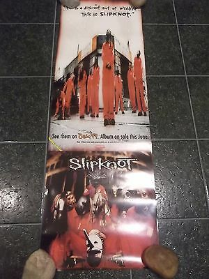 SLIPKNOT 1999 SELF TITLED PROMO POSTER 12x36 RARE