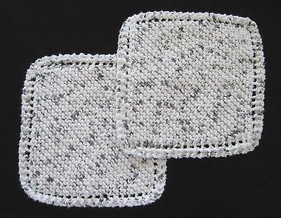 100% Cotton Dishcloths Handmade Hand Knit Lot of 12 Various Colors