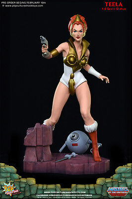Pop Culture Shock Teela Statue Masters of the Universe MOTU He-Man Sideshow