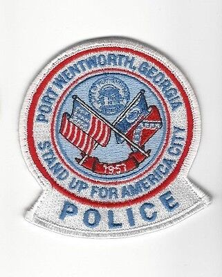 """Port Wentworth GA Georgia Police Dept. """"Stand Up For America City"""" patch - Nice!"""