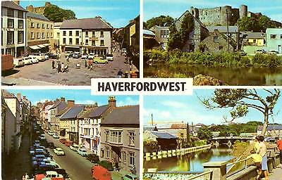 Haverfordwest - Pembrokeshire - Wales - Multiview - Postcard