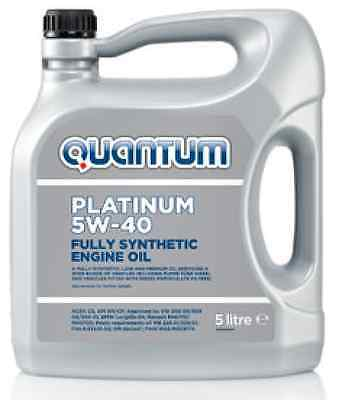 Quantum Platinum 5W-40 Fully Synthetic Engine Oil 5 Litre - ACEA C3, API, PD Oil