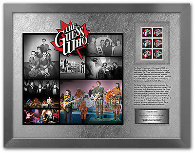 The Guess Who Limited Edition Framed Print Canada Stamps