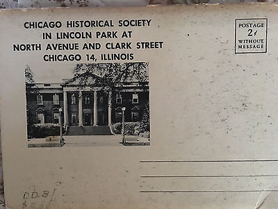 Abraham Lincoln Pictorial Life Chicago Historial Society Folder Park Dioramas