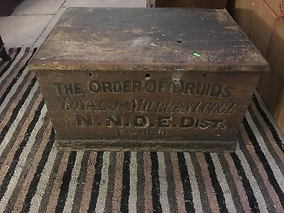 Order Of Druids Antique Chest