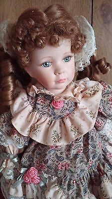 Brinn's Authentic Collectible Christmas Porcelain Hands,Face & Legs Doll 1991