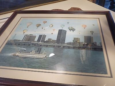 The Great Balloon Race BY C.W. Vittitow Framed