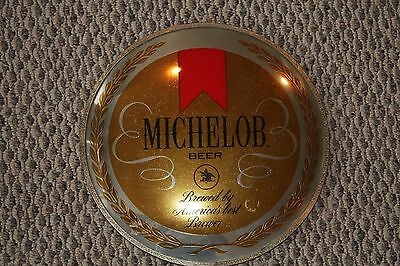 """Vintage Michelob Beer Sign from the 1970's - Round, Mirror, Metal ,13"""""""