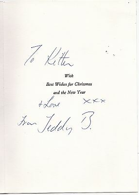 Benny Hill Signed Christmas Card And Photo, With Private Photographs