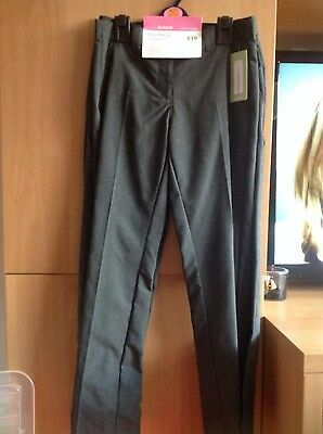 M&S girls school trousers size 10/11 NWT