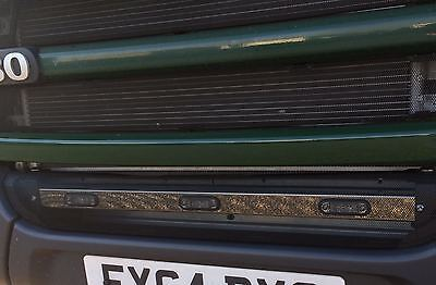 1 Mirror Finish S/steel  Led Scania R Cab Only Grill/bumper 3  Blue  Light Bar