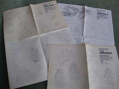 Bundle of embroidery iron on transfer from Classic Stitches magazine pk2