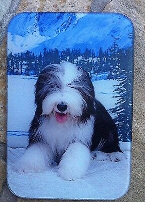 Bearded Collie Glass Cutting Board