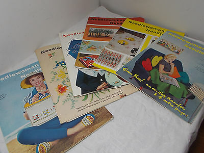 Vintage Needlewoman And Needlecraft Magazine Numbers 74,80,82,89,110 and 116