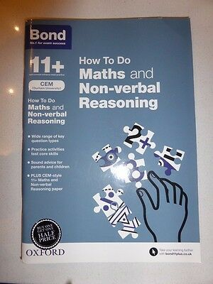 11+ Bond how to do maths and non-verbal reasoning