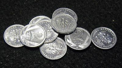 Poland 1990 Lot Of Nine Uncirculated 2 Zlote
