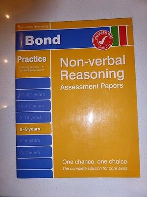 8-9 years bond practice non-verbal reasoning assessment papers