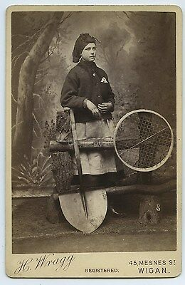 Superb Cabinet Photo Of Pit Brow Woman c1870s By Wragg Of Wigan - Mary Harrison