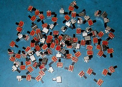 Apprx 200Pc Pc Mount Subminiature Right Angle Slide Switch Lot - Dpdt