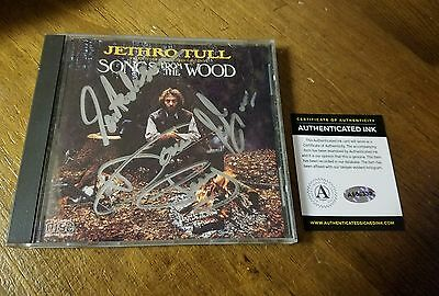 JETHRO TULL SIGNED  CD  songs from the wood AUTOGRAPHED