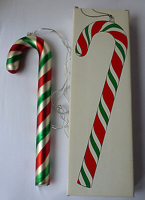 "Large 14"" Peppermint Candy Cane Ornament Mercury Glass - Department 56"