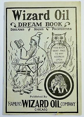 ANTIQUE Advertising HAMLIN'S Wizard OIL Dream BOOK PROPHECIES Quack MEDICINE