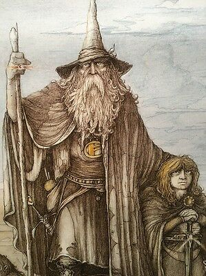 Lord Of The Rings : 1988 Wizard Poster / J. Cauty