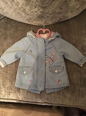 NEXT Baby girl Lightweight Embroider Lined Jacket 3- 6 MONTHS