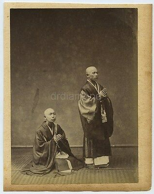 Photo Of Two Buddhist Priests - Japan c1880s