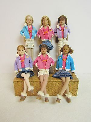 Only Hearts Club 6 Dolls in Matching Outfits Club Jackets & Fur Shoes $12.50 Ea