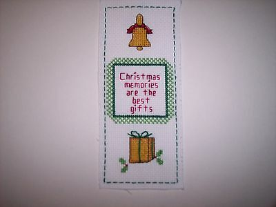 Christmas Memoriesl Bookmark - Completed Cross Stitch