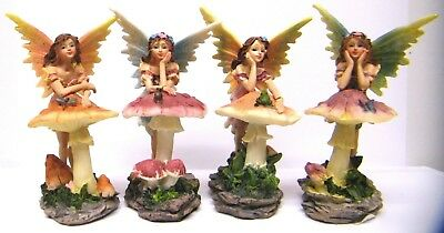 Fairy Figure Ornament Leaning On Toadstool New & Boxed FY333