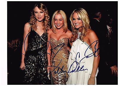 Taylor Swift , Kellie Pickler Carrie Underwood, Signed Autographed Photo W/ COA