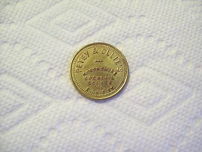 VINTAGE PETEY & OLLIE'S COCKTAIL LOUNGE 25 cent TRADE TOKEN - Chicago Illinois