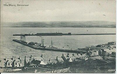 STRANRAER The Piers Early Wigtownshire Postcard 1905 Postmark