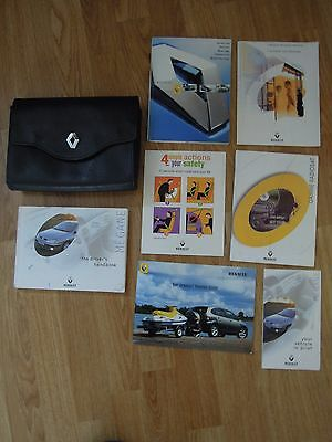 Renault Megane 2000 Drivers Owners Handbook Guide Manual in Leather Wallet