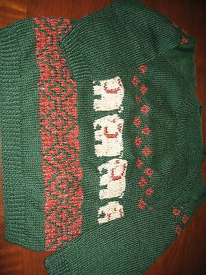 Hand knitted children's sweater (medium) Perfect for Christmas