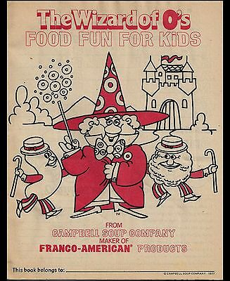 The Wizard of O's. Food Fun For Kids. From CAMPBELL SOUP COMPANY. 1977.