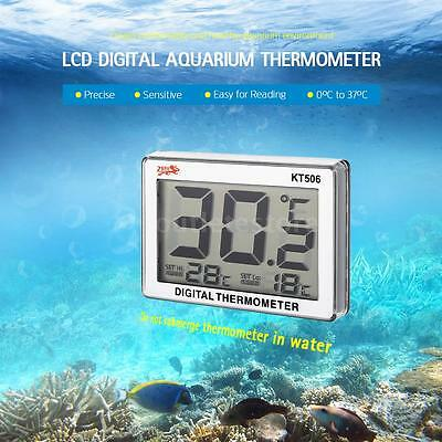 LCD Digital Fish Tank Thermometer Water Temperature Aquarium Accessories O4F7