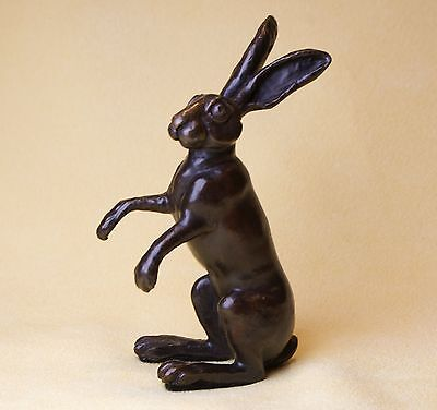 Solid Bronze - Hot Cast - Seated  Hare
