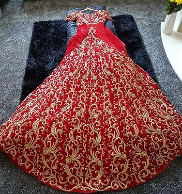 Beautiful Bridal Lengha Indian Pakistani Wedding Dress