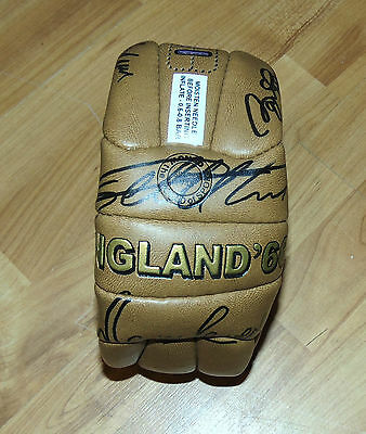 """1966 signed by 10 Players LEATHER football """" England Worl cup WINNERS """" 18 panel"""