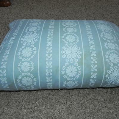 #2288 Vintage Blue Flowered Cotton Feather & Down Harris Blu Print Pillow Old