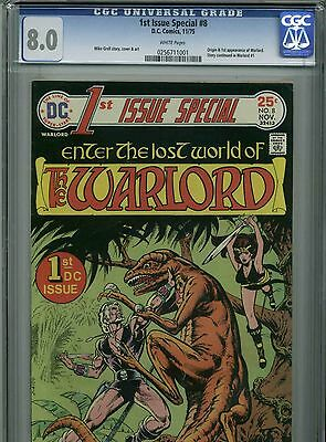 1st Issue Special #8 - November, 1975-CGC 8.0 (Origin/1st appearance of Warlord)