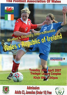Apr 07 Wales v Republic of Ireland match poster game at Tredegar