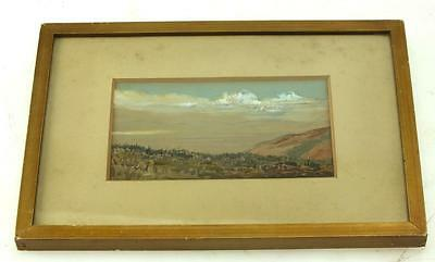 20thC Watercolour Painting Mountains - Mountain Landscape Frame Picture Framed