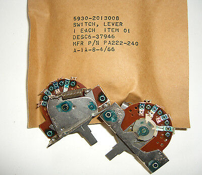 10 NOS/NIB 3 Position Momentary Lever Switch