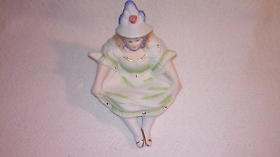 Antique Vintage  Victorian Risque Naughty Lady Shelf Figurine Bare Bottom Figure