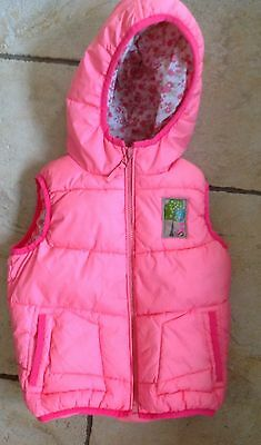 Girls Next Neon Hooded Body Warmer /gilet Age 2-3 Vgc